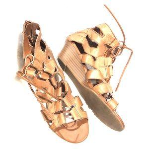 BOGO STEVE MADDEN Lace Up Sandal Wedge Shoes 6.5